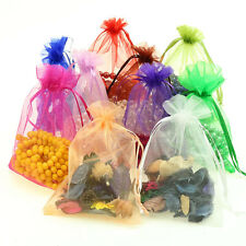 50pc Pretty Sheer Organza Wedding Party Favor Decoration Gift Candy Bags Pouches