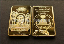 24K GOLD CLAD ILLUMINATI .999 PURE 1 TROY OZ