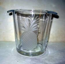 New Large and Small Rolf Pineapple Etched Glass Thick Ice Bucket