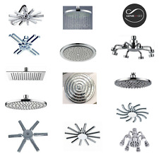 OVERHEAD CHROME SWIVEL RAIN SHOWER FIXED SHOWER HEADS