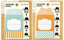 Cute Bear With Blue Spot Bookmark Sticky Marker Note Memo Pad Label Post It