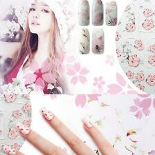 Pink Nail Art 1Set DIY Flowers Manicure 3D Embossed Design Nail Stickers Tips