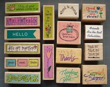 GREETINGS SAYINGS & FRIENDSHIP THEME RUBBER STAMPS ~  YOU PICK ~ NICE VARIETY