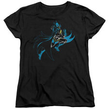Batman NEON BATMAN Action Shot Licensed Women's T-Shirt All Sizes