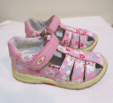 NATURINO ITALY INFANT GIRLS SHOES SANDALS PINK FLORAL LEATHER NIB 21/5 20/4inf