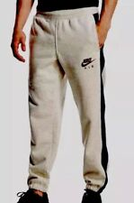 New Mens Nike Fleece Joggers, Tracksuit Bottoms, Track Sweat Jogging Pants Grey