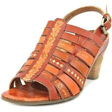 """Corkys Elite """"St. Francis"""" Ombre Hand Painted Leather Slingback Sandals"""