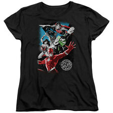 Justice League Heroes GALACTIC ATTACK Licensed Women's T-Shirt All Sizes