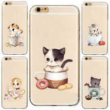 1Pcs Phone Case Silicon Soft Cup Cat Shell Hot For iPhone Mobile New