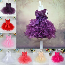 Baby Girl Kid Flower Princess Wedding Christening Party Pageant Fancy Tutu Dress