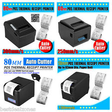 USB POS Thermal Dot Receipt Printer w/Paper Roll +4 Bills 5 Coins Cash Drawer UK
