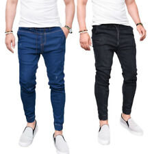 2017 Mens Denim Jean Regular Fit Faded Ripped Designer Trousers Pants Collection