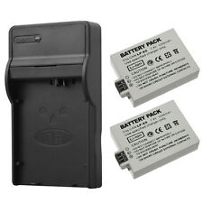 2Pcs LP-E5 LPE5 Li-ion Camera Batteries + Charger For Canon EOS 450D 500D 1000D