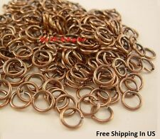 24 Ga Antique Copper Round Open Jump Ring (3.5 MM to 4.5 MM O/D)  Saw Cut / USA