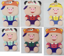 3D Cute Cartoon Pig Soft Silicone Phone Case Back Cover For iPhone5 5S 6S 7 Plus