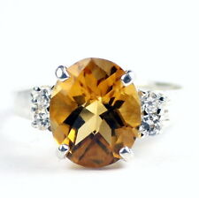 Citrine, Solid 925 Sterling Silver Ladies Ring, SR244-Handmade