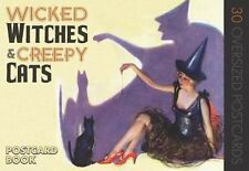 WICKED WITCHES & CREEPY CATS - 30 Oversized Postcards Vintage Inspired