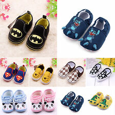 Baby Toddler Boy Girl Soft Sole Crib Shoes Marvel Heroes Flat Prewalker 0-18 M