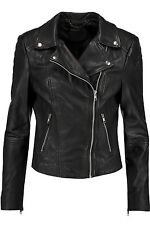 Muubaa Indus Black Leather Biker Jacket RRP £375