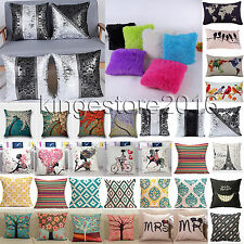 Cotton Linen Pillow Case Waist Throw Cushion Cover Home Room Office Sofa Decor