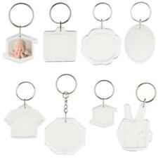 10pcs Insert Photo Picture Frame Keychains Keyring Acrylic DIY Crafts Key Chains