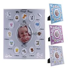 My First Year Baby Photo Frame Monthly Collage Infant Keepsake Gift Table Décor