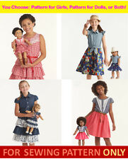 SEWING PATTERNS~AMERICAN GIRL DESIGNS~MATCHING TENNEY OUTFIT~PICK DOLL~GIRL~BOTH