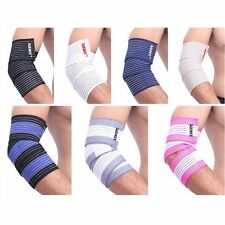 Elbow/Wrist/Knee/Thigh/Calf Support Brace Arm Pad Guard Power Weight Lifting