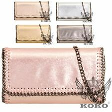 Ladies Metallic Chain Edge Clutch Bag Evening Bag Party Bag Handbag Purse KL752