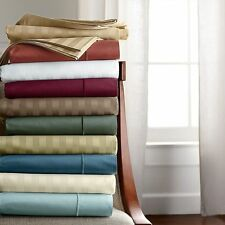Uk Small Double 1200 TC Egyptian Cotton Complete Bedding Items All Striped Color