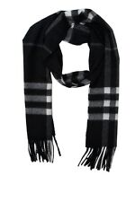 Burberry Scarf Scarves Foulard % Cashmere Giant Check  Man Blacks 4030500-
