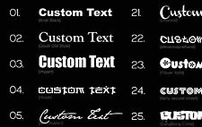 50X PERSONALISED VINYL DECAL sticker car name window door CUSTOM COLOUR & FONT