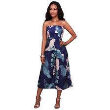 Sexy off The shoulder Strapless Jumpsuit Romper Playsuit Long Wide-legged Pants