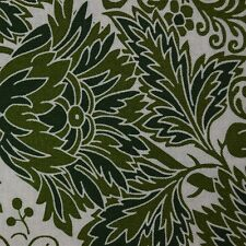 Quilt Fabric Cotton Calico Green Leaf Print by Benartex: FQ or Cut-to-Order