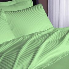 1200 TC Soft Egyptian Cotton Complete Bedding Items All UK Size Sage Striped