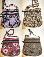 VERA BRADLEY Triple Zip Hipster Crossbody Bag TAGS Purse Bag Alpine Kiev Zebra