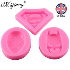 Batman, Spiderman or Superman Superhero Silicone Mould for Cake Icing Decoration