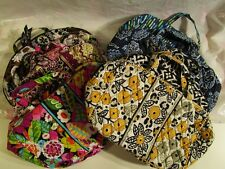 VERA BRADLEY Grand Cosmetic MakeUp Travel Bag Media Case NEW