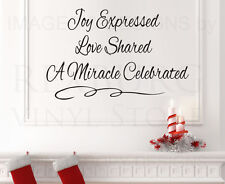 Wall Decal Quote Sticker Vinyl Art Lettering Adhesive Joy Expressed Christmas C7
