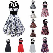 Skull Rose Retro 50s 60s ROCKABILLY DRESS Housewife Pinup Rock Punk Party Dress