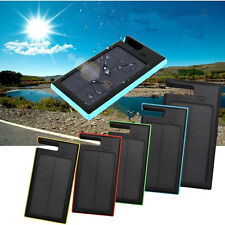12000mAh Portable Solar Power Bank Waterproof Battery Dual-USB Charger For Phone