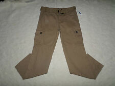OLD NAVY BELT CARGO PANTS MENS SIZE 31X30 LIGHT BROWN ZIP FLY NEW WITH TAGS