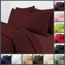 Plain Duvet Cover Set/ Quilt Cover with Pillowcase In Various Colors & Sizes