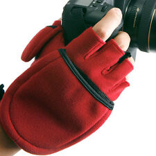 Camera MULTI SHOOTING GLOVES Mitten Photographer Winter Travel Outdoor Black/Red