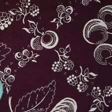 Quilt Fabric Quilting Cotton Calico Deep Purple Fruit Print: FQ or Cut-to-Order