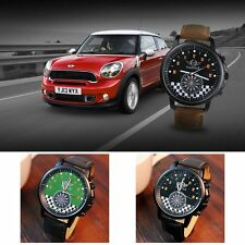 Men Business Sport Quartz Watches Military Leather Strap Army Fashion Wristwatch