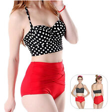 Bikini Hot 1 Set New Pin Up Women Bra + Panty Polka Dot Sexy