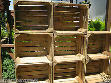 6  WOODEN APPLE CRATES STORAGE BOX FRUIT CRATES BOX