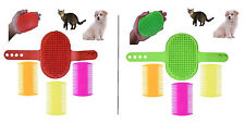Pet Grooming De-Shedding Brush & 3-Pack Flea Comb Combo for Cats & Dogs