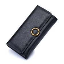 women genuine leather wallet female hasp leather purse female clutch money clips
